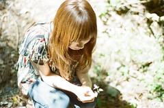 Late-summer greeting (yyuukkaa) Tags: girl lady light color film flower nikonfm summer 50mm 35mm women latesummer greeting