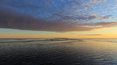 Watch for the wind (Note-ables by Lynn) Tags: sunrise sunsetsunrises clouds skies stlawrenceriver wind quebec
