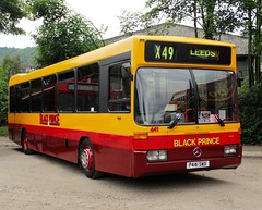' 441 '  P441 SWX  1996  Mercedes - Benz 0405 with Optare Prisma B49F body  BLACK  PRINCE (Mr Sandtoft.) Tags: peak park preserved bus gathering rowsley south station 19th june 2016