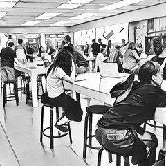 The Apple Store II (misterperturbed) Tags: apple applestore towsontowncenter prisma