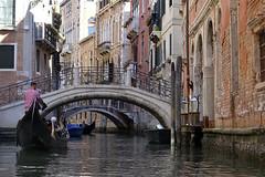 Gondola Ride in Venice (steven.kemp) Tags: venice italy canal gondola water river sea st marks square boat architecture building bridge tower church