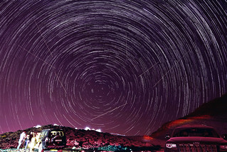 ~ Star-trails & Perseid Meteor Shower ~ Explored on 25/08/2016 ~