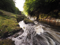 River North Esk (1M178018 E-M1 7mm iso200 f16 1_6s) (Mel Stephens) Tags: 20160917 201609 2016 q3 olympus omd em1 m43 microfourthirds mirrorless glen esk river north scotland uk water aberdeenshire layered structure ptgui mzuiko 714mm pro
