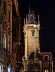 Staromstsk radnice (ManuelHurtado) Tags: countries places architecture bohemia building castle cathedral city clock czech europe famous gothic historic historical history landmark medieval night nocturnal old prague tourism tourist tower town travel urban praga repblicacheca cz