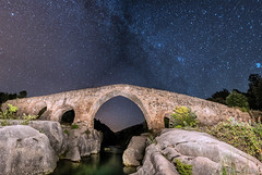 Pont del Pedret, Berga (MrDaVidU) Tags: pano panoramica nocturna pont puente pontdelpedret berga catalunya catalua maglite maglite3d