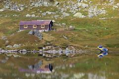 Mountain cabin (Jostein Nilsen Photography) Tags: haukeli hordaland cabin mountain lake reflection outdoor