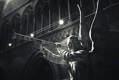 R2-062-29A (David Swift Photography Thanks for 18 million view) Tags: davidswiftphotography philadelphia northphilly churchoftheadvocatephiladelphia angels churches sanctuary 35mm film holyplaces ilfordxp2 leicaminilux