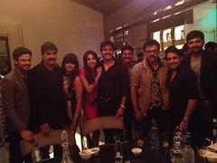 Actress Sanjjanaa with Telugu Industry Stars