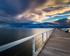 Grange Jetty Storm Clouds (BTAdelaide) Tags: jetty beautiful colourful landscape seascape ocean clouds longexposure blue hour photography beach