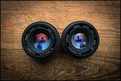 Vivitar 50mm Twins (Lens Bubbles) Tags: vivitar 50mm f17 f19 m42 vintage lens