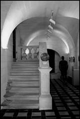 La sphre (stephphoto8184) Tags: villeneuve noir et blanc jardin saint andr sphre visite muse escaliers carreaux