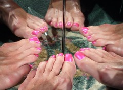 Pedi party (toepaintguy) Tags: male guy men man masculine boy nail nails fingernail fingernails toenail toenails toe foot feet sandal sandals polish lacquer gloss glossy shine shiny sexy fun daring allure gorgeous glitter pure ice free fall pink shimmer incredible audacious