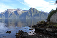 Naust & fjell - - Seahouse & mountains (erlingsi) Tags: seahouse naust noreg hjrundfjorden sb norway mountains fjord mra stille scandinavia norwegen