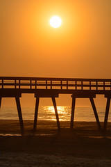 Beach Sunrise (PMillera4) Tags: beachsunrise fishingpier beach sunrise dawn newjersey jerseyshore avalonnj