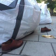 20160516-B (Heinrock) Tags: banana instagram iphone5s shoes spring stockholm street sweden peel pavement sidewalk birkagatan