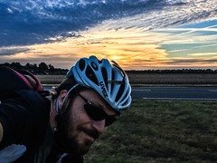 Tuesday September 27 ride, getting darker and colder more quickly now... (Klaas / KJGuch.com) Tags: cycling outdoors nature landscape bianchi bianchisemprepro italianroadbikes italianbikes drenthe nederland netherlands wielrennen outandabout cloud clouds cloudart sky dutchskies view autumn latesummer sunset