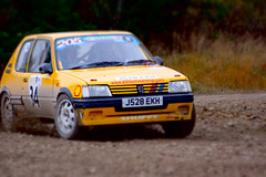 Peugeot 205 at the Malton Forest Rally (Chris McLoughlin) Tags: action rally motorsport a77 peugeot205 chrismcloughlin maltonforestrally garrygreen sonyslta77 jodyshuffe