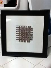 criss cross (Ceezeecee) Tags: abstractart modernart alcohol weaving paperstrips wovenpaper alcoholdripping
