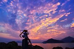 見上げるあの空で (Ateens Chen) Tags: sunset nikon alter ateens d800 nanoha landscapeportrait nikonafsnikkor2470mmf28ged 17scalefigure