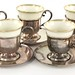 2040. Set of Eight Sterling Silver Demitasse Cups