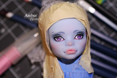 Second Abbey in progress (Amber-Honey) Tags: abbey monster skull amber high mod doll ooak honey custom shores mattel repaint bominable
