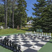 Outdoor chess and checkers