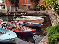 Limone 10th Oct (saxonfenken) Tags: italy boats colourful limone 820 lakegarda gamewinner a3b thechallengefactory pregamesweepwinner 820boats
