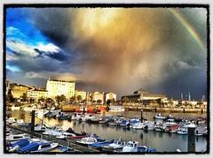 Rainbow in Ferrol (cudipeich) Tags: arcoiris rainbow galicia ferrol iphone4