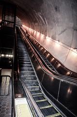 Escalators in the metro (m01229) Tags: escalator rosslyn dcmetro metrostation rosslynmetrostation