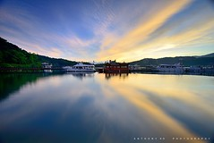 (anthonyko) Tags: lake water sunrise boat taiwan   sunmoonlake    lakesunmoon