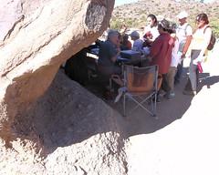 048 Manning The Download Station (saschmitz_earthlink_net) Tags: california boulder orienteering 2012 aguadulce vasquezrocks losangelescounty epunch laoc losangelesorienteeringclub joevliestra
