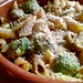 Creamy roasted sprouts and pasta