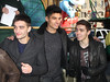 Tom Parker, Siva Kaneswaran, and Nathan Sykes of The Wanted 86th Annual Macy's Thanksgiving Day Parade New York City, USA