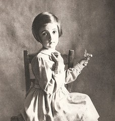 Irving Penn (Decoupage girl) Tags: flower girl child irvingpenn