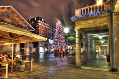 London: Covent Garden (ovofrito) Tags: christmas xmas city tree london night garden lights nikon decoration covent hdr d300s