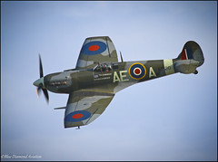 SUPERMARINE SPITFIRE Mk LFVbk (Wings & Wheels Photography.) Tags: uk england canon wwii duxford spitfire dslr bdp cambridgeshire raf imperialwarmuseum iwm royalairforce duxfordairshow aviationphotography thefightercollection 19squadron worldwar2fighter 501squadron canoneos7d bluediamondphotographic bluediamondaviation supermarinespitfiremklfvbk 402rcafsquadron