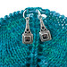 Art Deco Marquisite Stitch Markers on Shawl