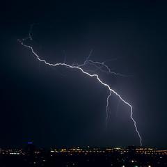 Thunderstorm 4 (Gaby.Bernstein) Tags: sky storm rain skyline night clouds buildings gaby thunderstorm lightning bernstein thunderbolt thunderbolts lightnings bernsteingaby gabybernstein