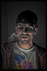 hdrdeta behance self (--NICO--) Tags: portrait people color face portraits smoke persone retouch ritratti hdr