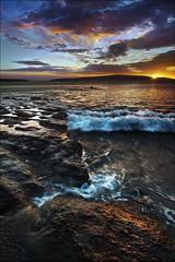 Wave Goodnight to Maui (Aaron Matney) Tags: sunset canon landscape hawaii waves aaron maui matney 5dmkii