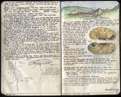 059-060 (The Hike Guy) Tags: moleskine watercolor journal moleskinerie sierranevadamountains notebookism kolbykirk