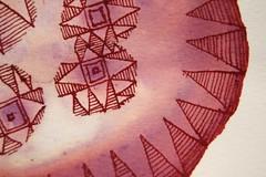 "Thunder Ampulla 2 • 2012 • ink on watercolor paper • 8x8"" (ReneePrisble) Tags: southwest macro art nature illustration ink desert drawing earth pueblo cell rorschach mandala science painteddesert micro inkblot habitat biology cells microbiology mothernature southwestern micron petrifiedforest haeckel naturalist inkspill lifestudy naturestudy ampulla reneeprisble reneeprisbledrawing"