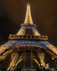The Illuminated Eiffel Tower (Ellis Pictures) Tags: