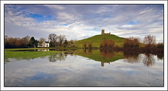 Floods at Burrow Mump 3 (c.richard) Tags: church flood ruin somerset nationaltrust sacredsite burrowmump somersetlevels isleofavalon somersetfloods