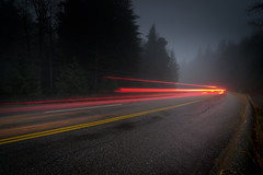 Curve (Alan Drake) Tags: road longexposure light nature fog lights nikon dusk seymore tgam:photodesk=longexposure2012 photodesklongexposure2012
