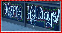Holiday Window Greetings Happy Holidays Image MBurgess (Ria B ~ M Burgess) Tags: christmas decorations holiday glass painting happy artist designs technique windowpainting holidayart windowsplash windowpaintingpainter