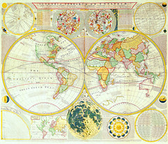 Antique Maps (divinumphoto) Tags: map c1780 antiquemapsoftheworld doublehemisphereworldmap samueldunn