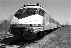 AMTK 2131 - Turboliner in Storage (greenthumb_38) Tags: blackandwhite bw newyork car train blackwhite storage amtrak duotone locomotive passenger scotia trainset combo turboliner jeffreybass amtk2139