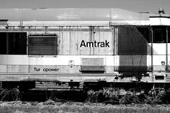 Tur opower !! (greenthumb_38) Tags: blackandwhite bw newyork car blackwhite storage amtrak duotone locomotive passenger scotia combo turboliner jeffreybass amtk2139