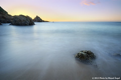 Blanes  Santa Anna (mireba72) Tags: santa longexposure blue light sea sky anna costa seascape color travelling luz beach water azul marina landscape puerto lights harbor landscapes mar spain agua nikon exposure mediterraneo colours snorkel seascapes natural stones playa paisaje girona punta catalunya brava litoral calma aigua cala rocas buceo blanes guijarros d90 sedoso peascosa sensibilitzaci mireba